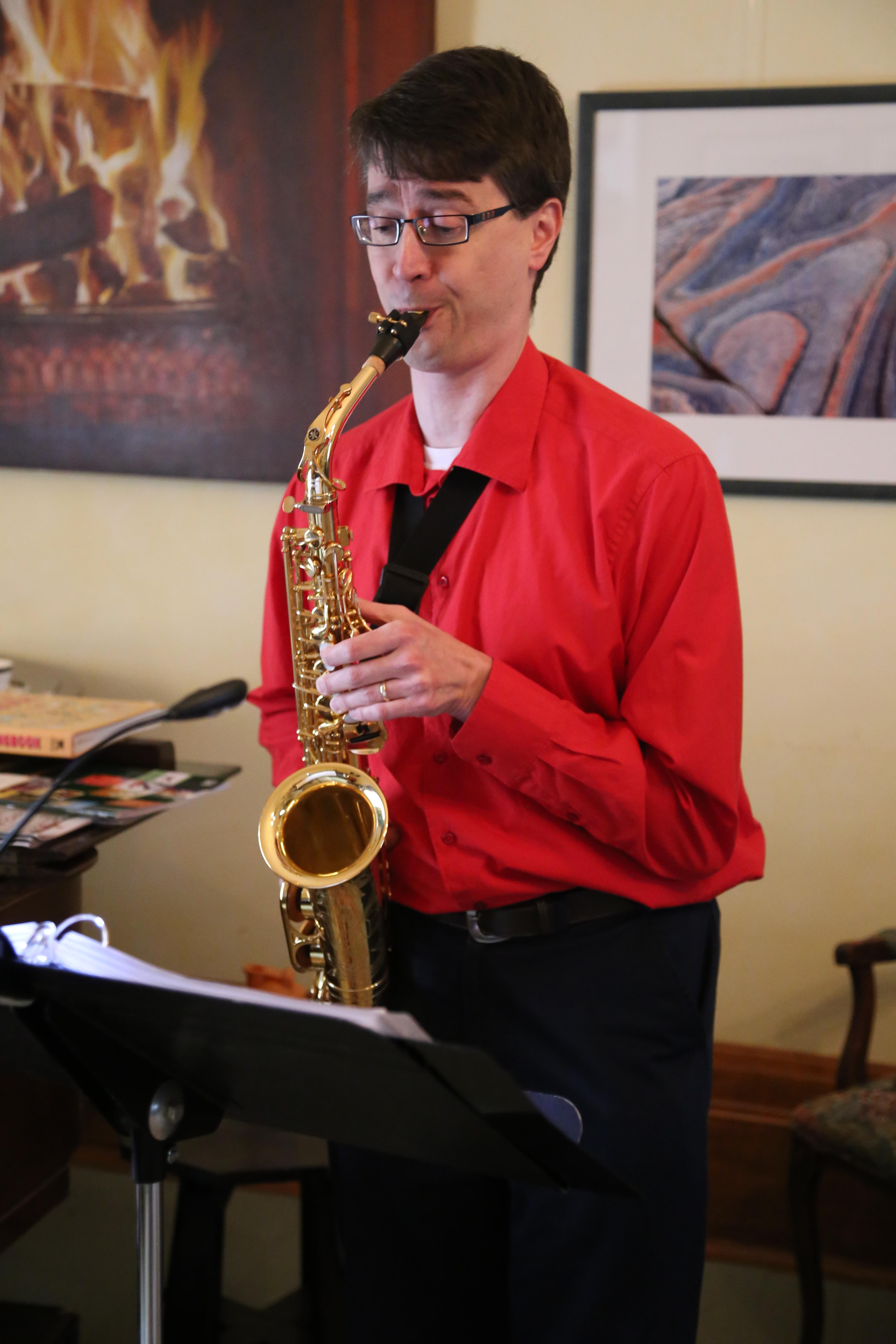 Tim saxophone Hillary house 2015 Melanie Bell Snapd Aurora